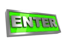 Free Enter Sign Stock Photography - 15105142