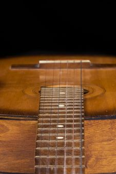 Free Part Of Guitar On Black Royalty Free Stock Images - 15105539