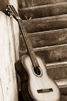 Free Image Of Guitar Near Steps Stock Photo - 15105650