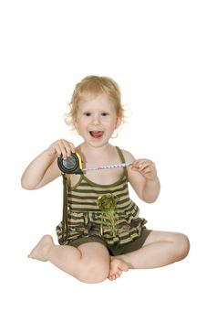 Free The Girl With The Tape Royalty Free Stock Photos - 15105738