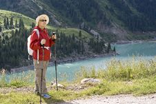 Free Old Women In Mountain Royalty Free Stock Images - 15105999