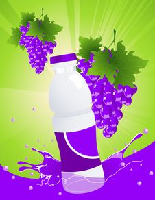 Vine Juice Bottle Stock Photo