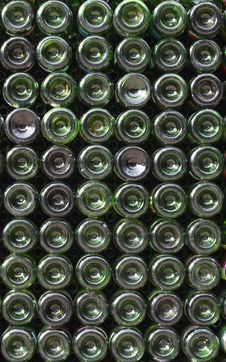 Free Many Green Glass Wine Bottles Royalty Free Stock Image - 15106406