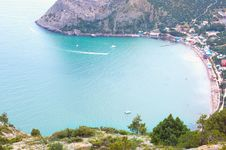 Free Beautiful View On Bay With Beach In Crimea Royalty Free Stock Photos - 15106448