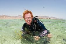 Free Male Scuba Diver On Surface Royalty Free Stock Photo - 15106535