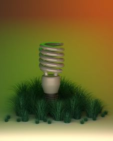 Environment Friendly Light Bulb Royalty Free Stock Images