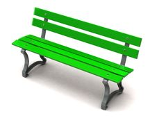Free Green Bench Royalty Free Stock Photos - 15106978