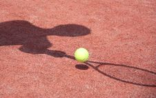 Free Tennis Shadow Royalty Free Stock Images - 15107099