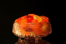Sweets In A Glass Bowl Royalty Free Stock Photos