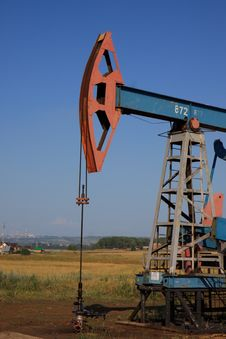 Oil Pump Jack Royalty Free Stock Photo