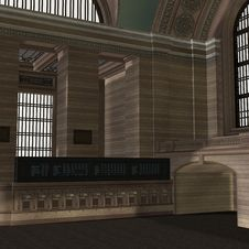 Free An Empty Central Station Royalty Free Stock Image - 15107616