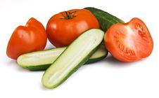 Free Tomatoes And Cucumbers Royalty Free Stock Photo - 15109715