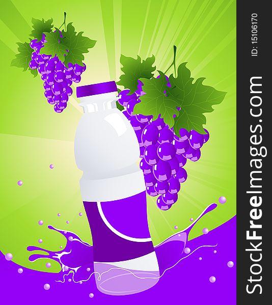 Vine juice bottle