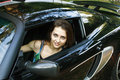Free The Beautiful Girl Is Sitting In The Car Stock Photo - 15113380