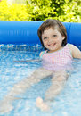 Free Little Girl Swimming In Basin Stock Photo - 15115490