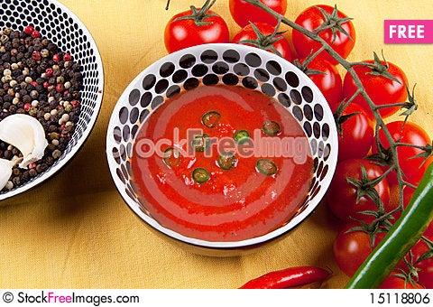 Free Hot Tomato Sauce Royalty Free Stock Image - 15118806