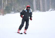 Free Woman Skiing Stock Image - 15110021
