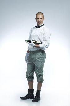 Hot Wine Waiter Royalty Free Stock Image