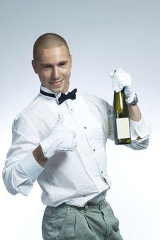 Hot Wine Waiter Stock Images