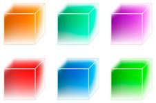 Many-coloured Ice Cubes Royalty Free Stock Image