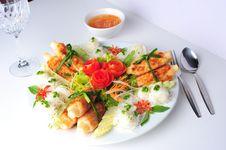 Free Sugar Cane With Shrimp Royalty Free Stock Photo - 15110865
