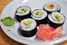 Free Sushi On A Plate Stock Photo - 15111110