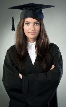 Young Beauty Graduate Woman Stock Image