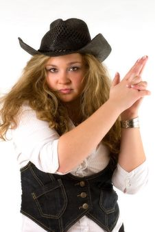 Western Girl Stock Photos