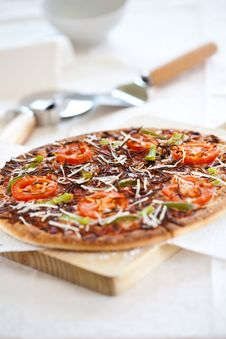 Tasty Pizza With Tomato Chesse Olive Stock Photography