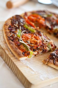 Tasty Pizza With Tomato Chesse Olive Royalty Free Stock Photography