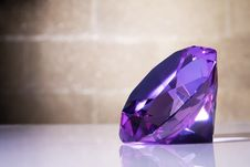 Free Big Crystal Against The Wall Background Royalty Free Stock Photo - 15113575