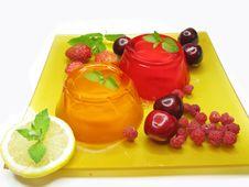 Jelly Marmalade Fruit Desserts Stock Photo