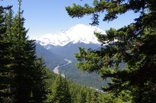 Free Mount Rainier From Crystal Lakes Trail Stock Image - 15114421