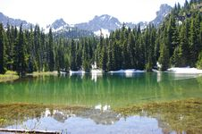 Free Lower Crystal Lake In Cascades Royalty Free Stock Photo - 15114445