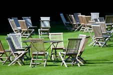 Free Deckchairs Royalty Free Stock Image - 15114796