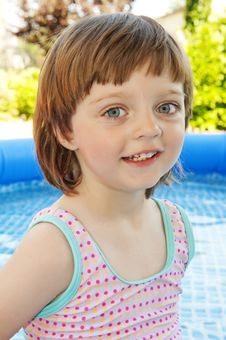 Free Portrait Of Little Girl In Basin Stock Image - 15115151