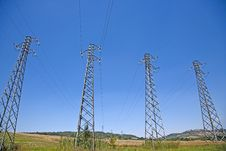 Free 4 Cable Cuttent Towers Stock Photos - 15115243