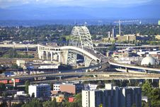Free The Fremont Bridge Portland OR. Royalty Free Stock Image - 15115276