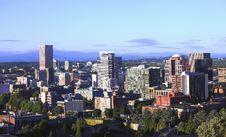 Free Portland Oregon At Sunset. Stock Image - 15115551