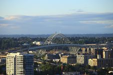 Free The Fremont Bridge Portland OR. Royalty Free Stock Images - 15115609