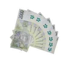 Free Czech Money - Notes Isolated Royalty Free Stock Image - 15115706