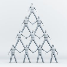 Free 3D Pyramid Of People Stock Image - 15115801