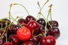 Pile Of Fresh Ripe Cherries Stock Photos