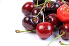 Pile Of Fresh Ripe Cherries Stock Image