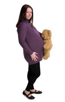 Beautiful Pregnant  Girl Royalty Free Stock Photo