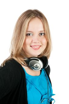 Free Woman With Headphones And Microphone Royalty Free Stock Photos - 15117308