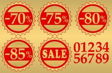 Free Set Of Festive Sale  Tags Royalty Free Stock Photography - 15117527