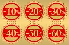 Set Of Festive Sale  Tags Stock Photos