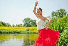 Free Young Woman Dancing Royalty Free Stock Image - 15118016