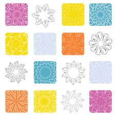 Free Floral Design Elements Royalty Free Stock Photography - 15118467